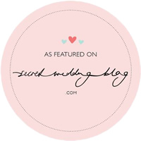 As featured on Secret Wedding Blog