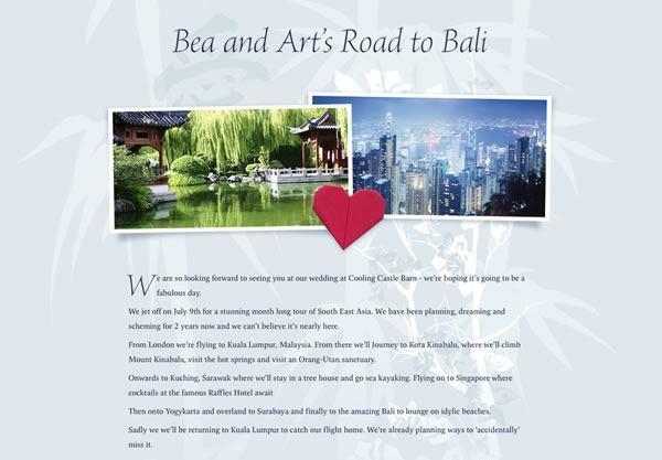 Wedding Gift List Website: Example Honeymoon Funds And Wedding Gift Lists