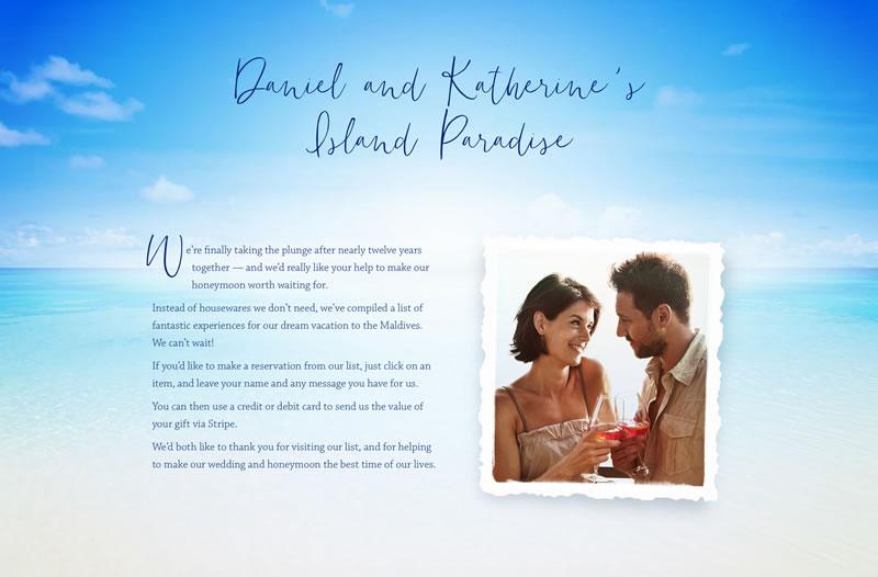 Daniel and Katherine's Island Paradise