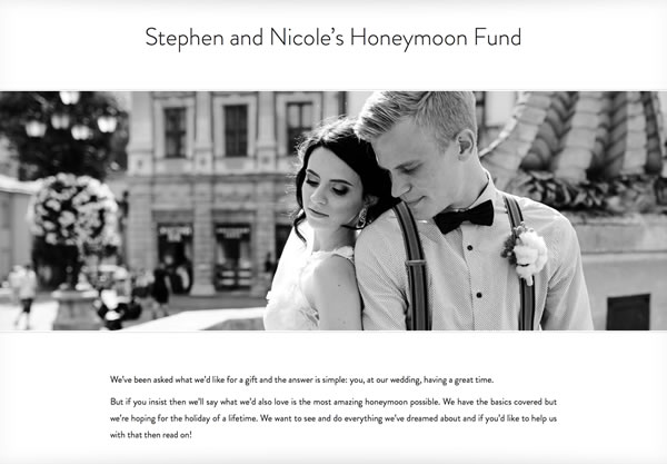 Stephen and Nicole's Honeymoon Fund
