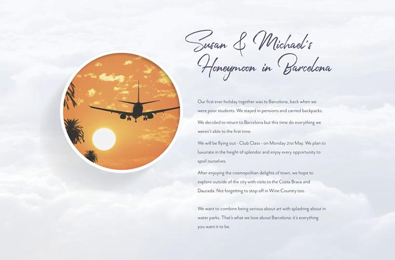 Susan and Michael's Honeymoon in Barcelona